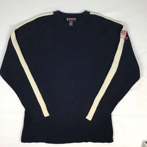 Polo Navy Ribbed sweater.